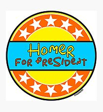HOMER FOR PRESIDENT Photographic Print