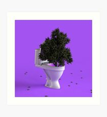 Toilet Tree Art Print