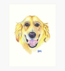 Happy Golden Retriever Art Print