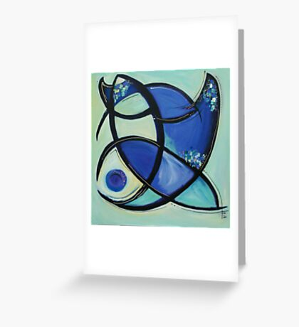 Manta Greeting Card