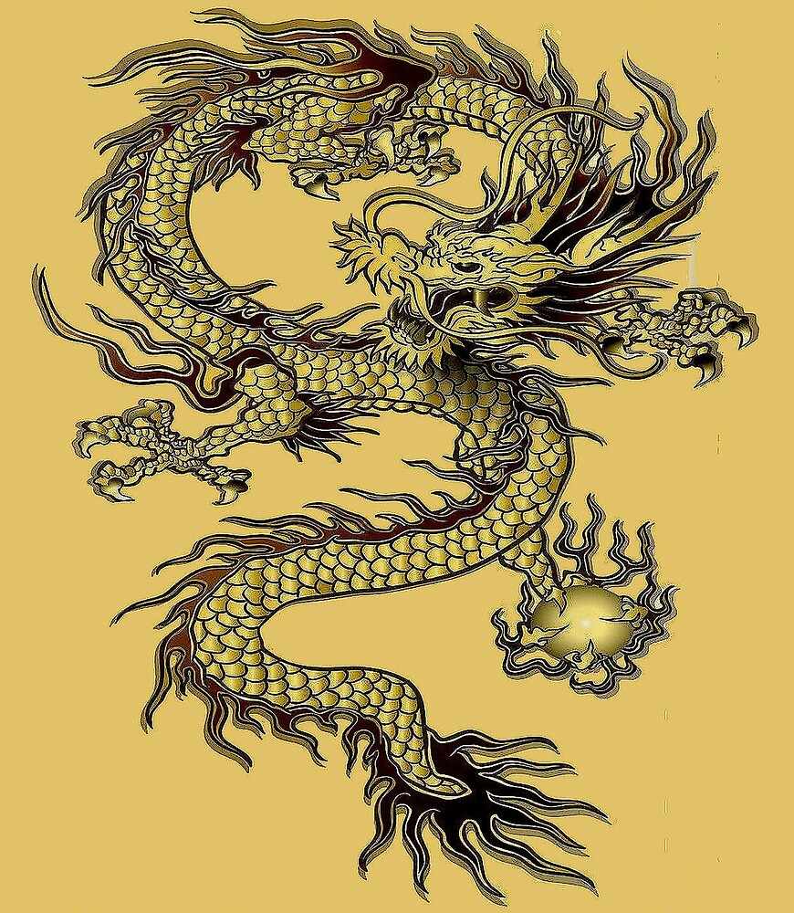 DRAGON : Vintage Ming Dynasty Print by posterbobs