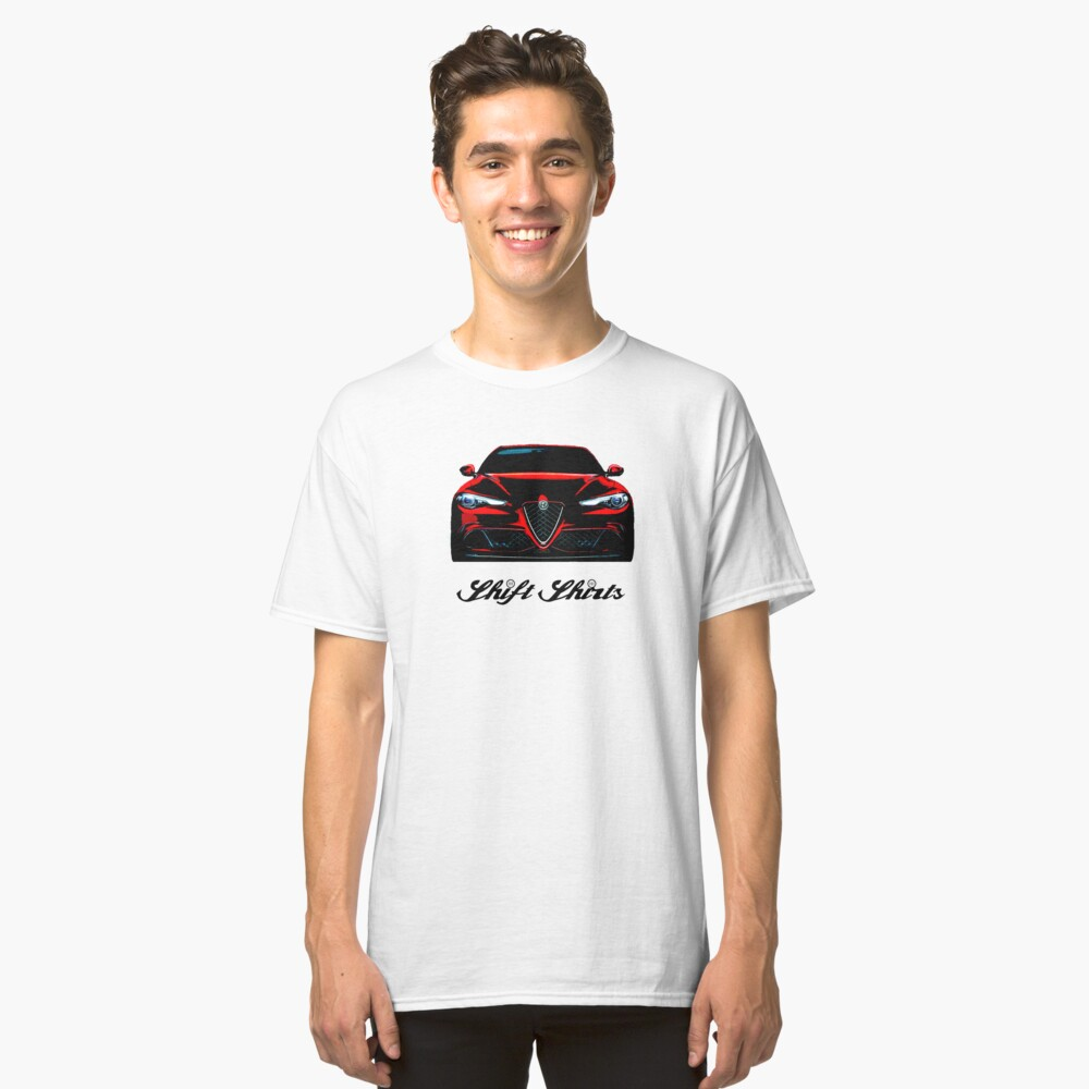 The Return To Glory - Alfa Romeo Giulia Quadrifoglio Inspired Classic T-Shirt Front