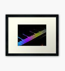 Tone Colours - Rainbow Keyboard Framed Print