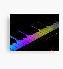 Tone Colours - Rainbow Keyboard Canvas Print