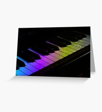 Tone Colours - Rainbow Keyboard Greeting Card
