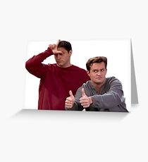 Chandler Bing Joey Tribbiani Friends Greeting Card