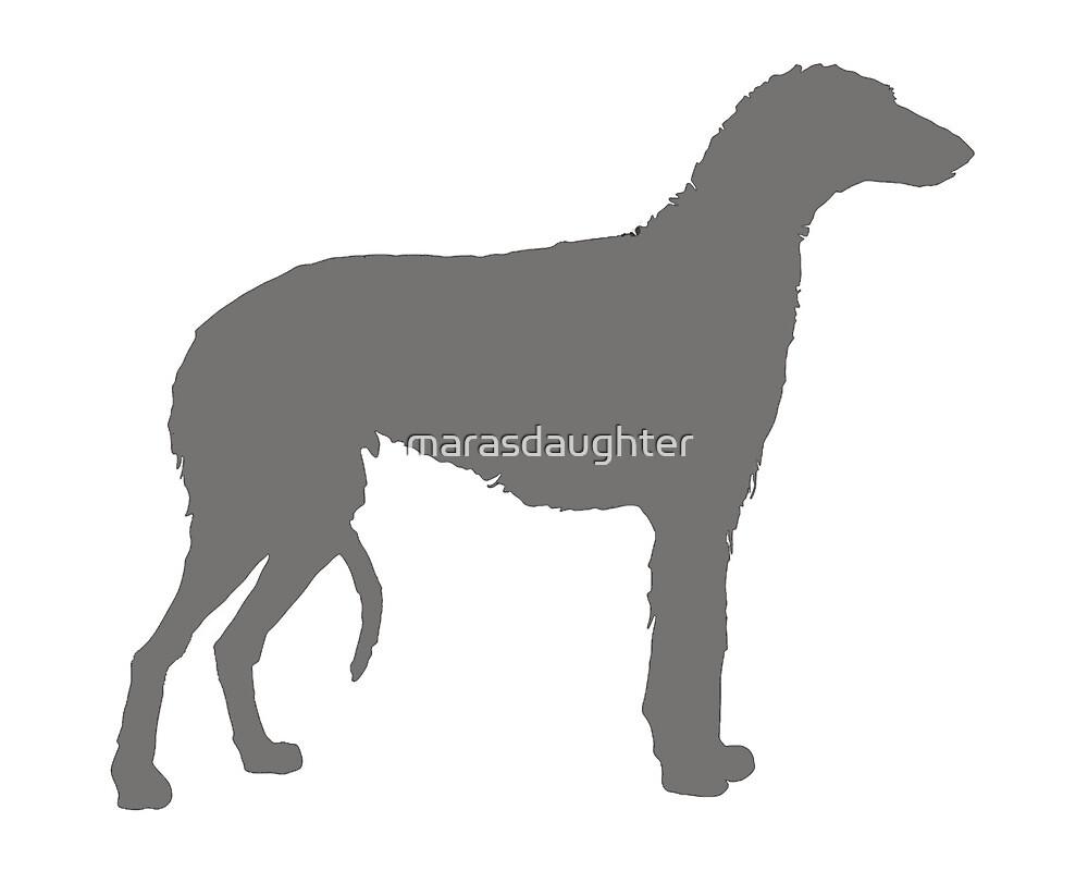 scottish deerhound color silhouette by marasdaughter