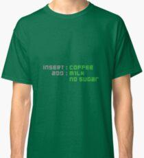 COFFEE INSTRUCTIONS-  COFFEE MILK NO SUGAR Classic T-Shirt