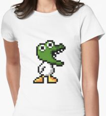 Duck Game Dinos Women's Fitted T-Shirt