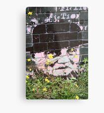 Alf Garnett hidden among the weeds Metal Print