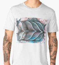 Fish on colorful abstract background Men's Premium T-Shirt