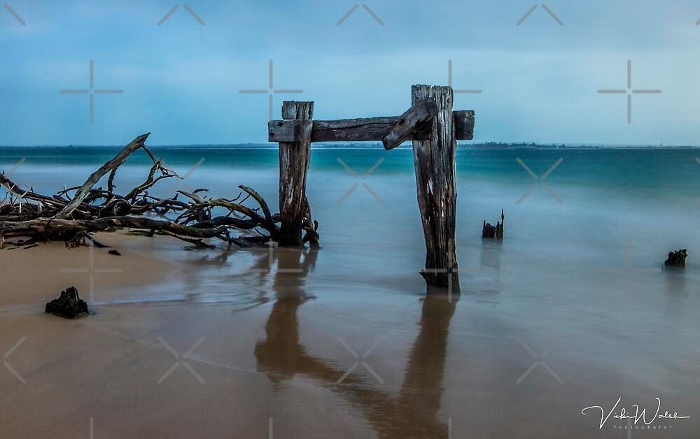 The Cattle Jetty, Observation Point, Point Nepean, Portsea, Mornington Peninsula, Victoria, Australia. by Vicki Walsh