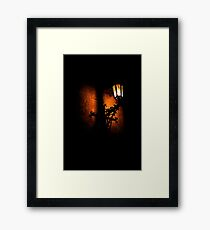 Lantern, its light and shadow Framed Print