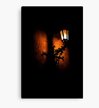 Lantern, its light and shadow Canvas Print