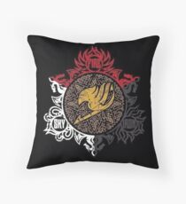 Fairy Tail Dragon Slayers logo Throw Pillow