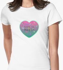 """Ombre Heart With Colourful Dandelion Feathers. T-Shirt"