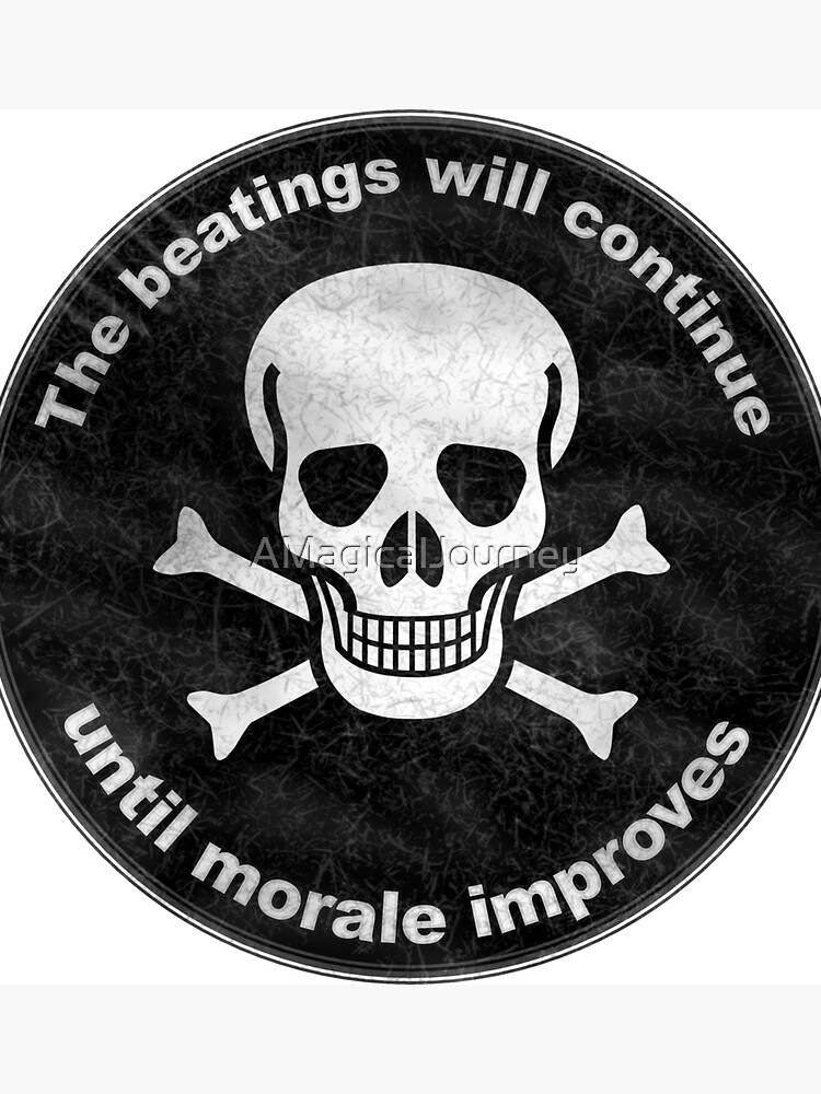 Beaten The Beatings Will Continue Until Morale Improves Gag Gift Clock by AMagicalJourney