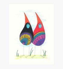 Bird Twins Art Print