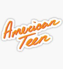 AMERICAN TEEN ORANGE Sticker