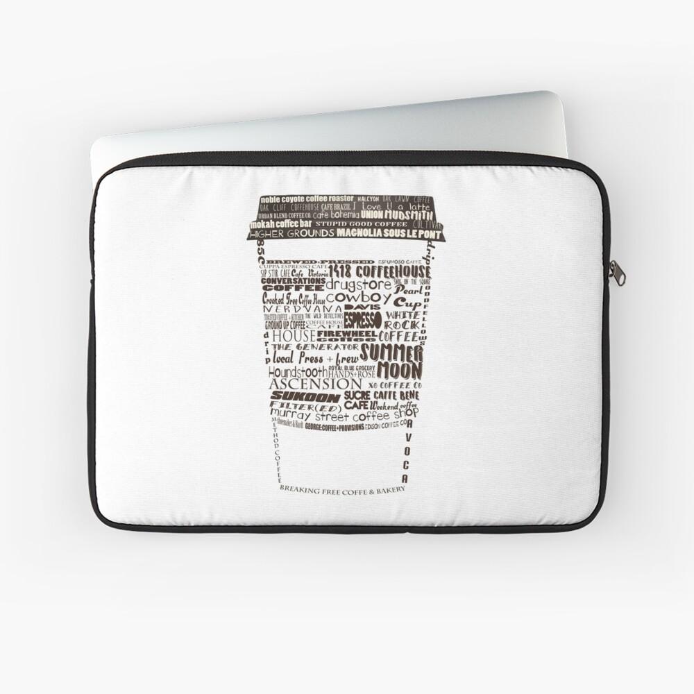 Dallas Coffee Shops Laptop Sleeve