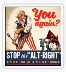 Antifa - Stop the Alt Right - Anti Trump Sticker