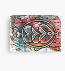 Fish on colorful abstract background Canvas Print