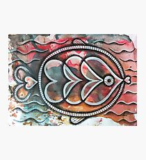 Fish on colorful abstract background Photographic Print