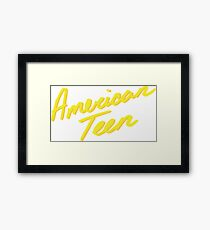 AMERICAN TEEN YELLOW Framed Print