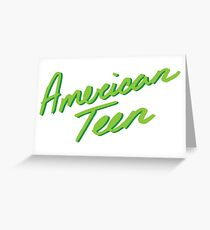 Location lyrics greeting cards redbubble american teen green greeting card m4hsunfo