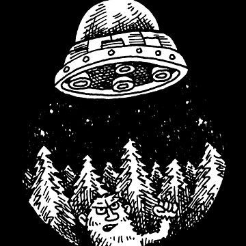UFO buzzes Yeti in the forest by awcomix