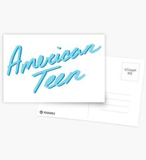 AMERICAN TEEN LIGHT BLUE Postcards