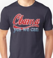 Obama Yes We Can Red White and Blue T-Shirt