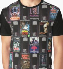 Horror VHS Tapes Graphic T-Shirt