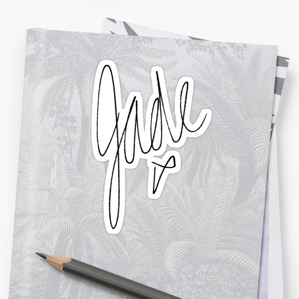 Little Mix - Jade Signature Sticker Front