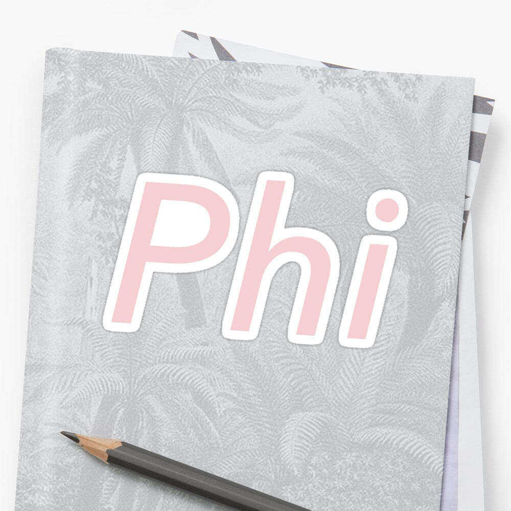 Phi Sticker Front