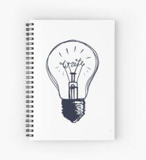 Cuaderno de espiral La luz de escritura