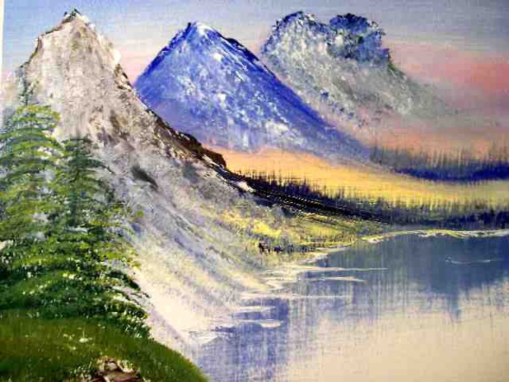 Mountains in the Rockies oil painting  by coolart