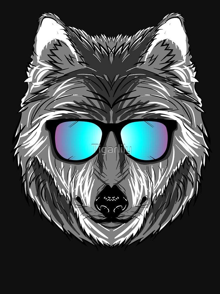 Wolf Sunglasses T-Shirt Groom Wolf Pack Bachelor Party Gift by Tigarlily