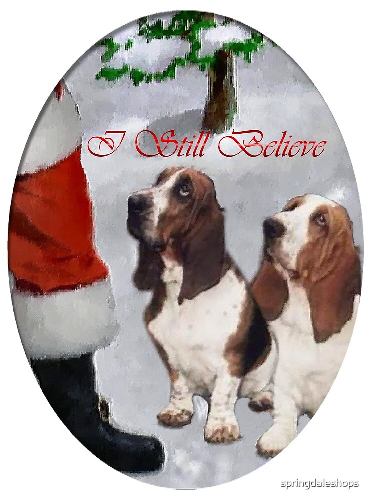 Two Basset Hounds Christmas by springdaleshops