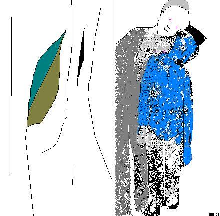 the blue shirt by mhkantor