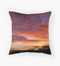 Lurid Dawn Throw Pillow