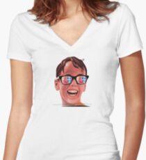 Sandlot summer  Fitted V-Neck T-Shirt
