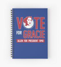 Gracie Allen for President (see artist note) Spiral Notebook