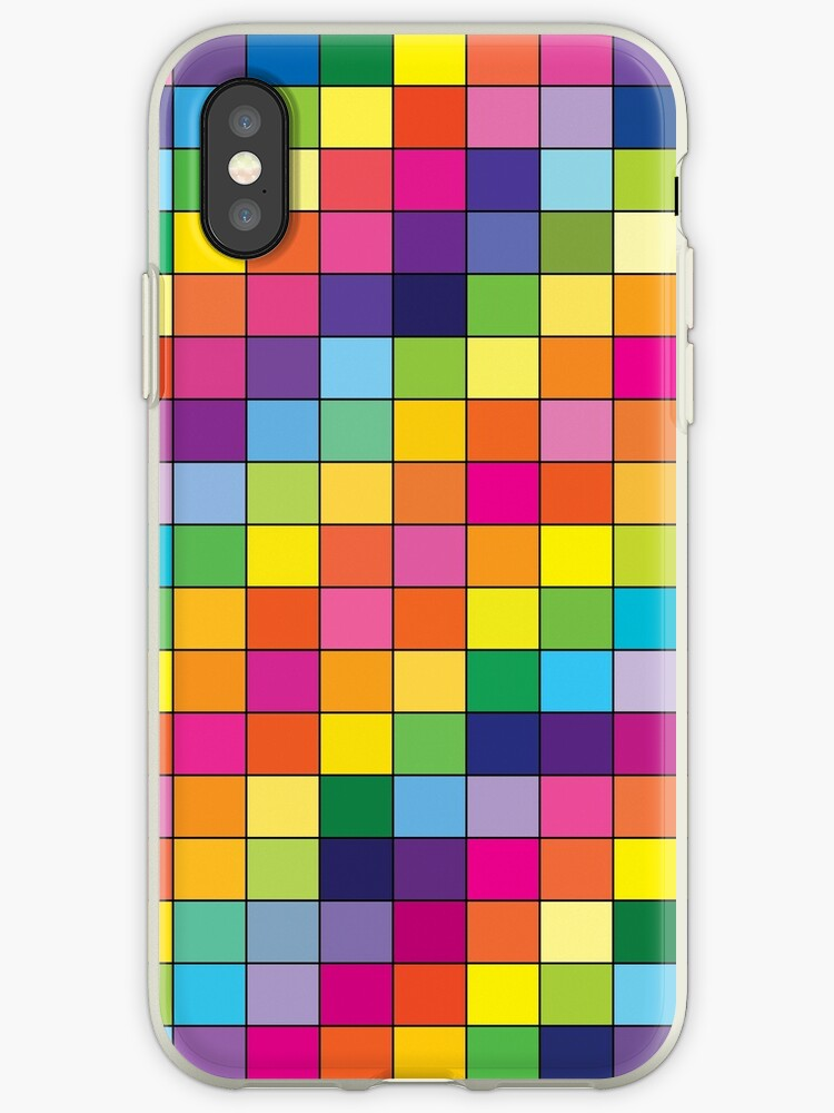 Bright geometric square pattern by Empaddon