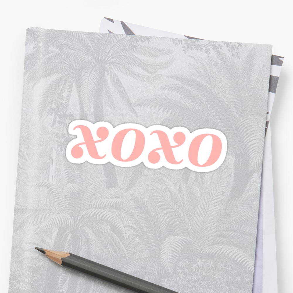 xoxo sticker by c. elizabeth
