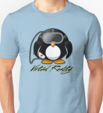 Virtual Reality Penguin: Gamer Design T-Shirt