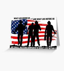 Firefighter Hero love | Flag Shirt Fireman Greeting Card