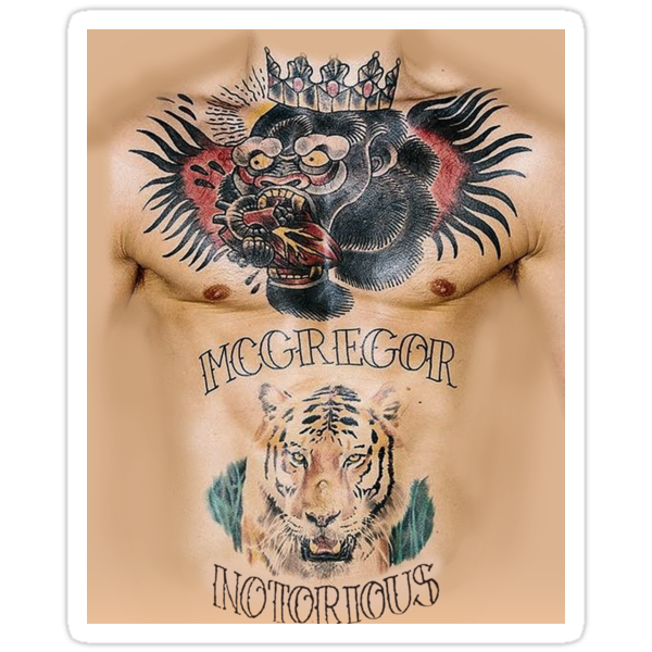 conor mcgregor tattoo stickers by bigtimmystyle redbubble