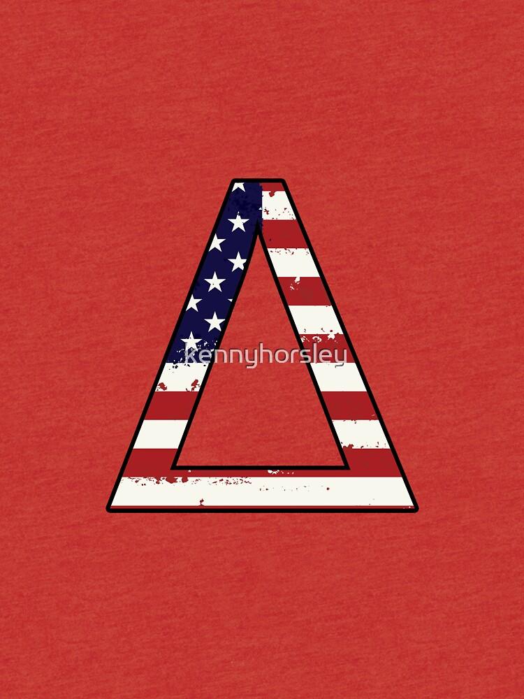 Delta Flag Greek Symbol Tri Blend T Shirt By Kennyhorsley Redbubble