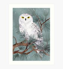Snowy Art Print